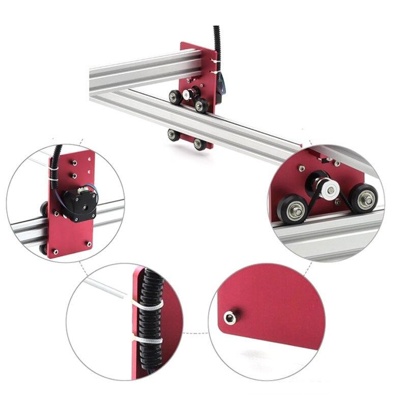 Heißer Alle Metall 45*45cm 2500mW 3500mw Holz Mini Blau CNC Laser Engraver Cutter Gravur DIY maschine PWM, benbox GRBL EleksMaker