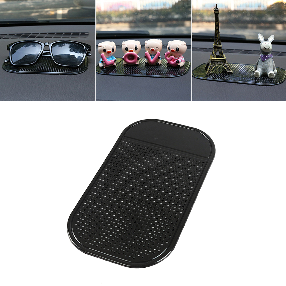 Black Anti-Slip Car Dash Sticky Gel Pad Non-Slip Universal Mount Holder Mat Washable Silicone Gel Pad Car Accessories Hot