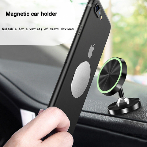 Universal Magnetic Car Phone Holder Stand in Car For Most Mobile phones metal  Cell  Mobile Phone Holder Luminous  Support GPS Lahore
