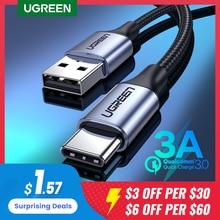 Ugreen-USB Type-C急速充電ケーブル,データケーブル,Xiaomi Samsung S9/S10/S20用USBCタイプケーブル