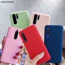 12 Candy Farbe Telefon Fall Für Huawei P30 Lite P20 P40 Pro Plus P10 Lite P9 P8 Lite 2017 P smart Z 2019 2021 Matte Silikon Abdeckung