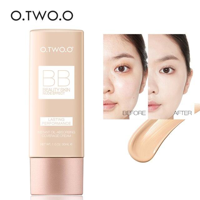 O.TWO.O Makeup BB Cream White  Cosmetics Natural Whitening Cream Waterproof Makeup Base Liquid Foundation Professional Cosmetics 4
