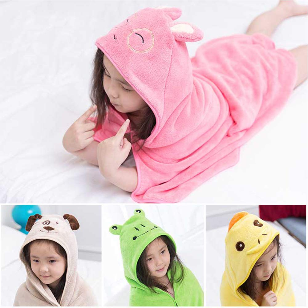Baby Bath Towel Cartoon Cute Animal Shape Kid Hooded Baby Towel Bathrobe Cloak Baby Receiving Blanket Neonatal Hold To Be