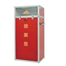 Aluminum alloy lock portable red democratic conference election box ballot box