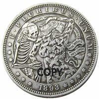 HB(63)US Hobo 1893 Morgan Dollar skull zombie skeleton Creative Copy Coins