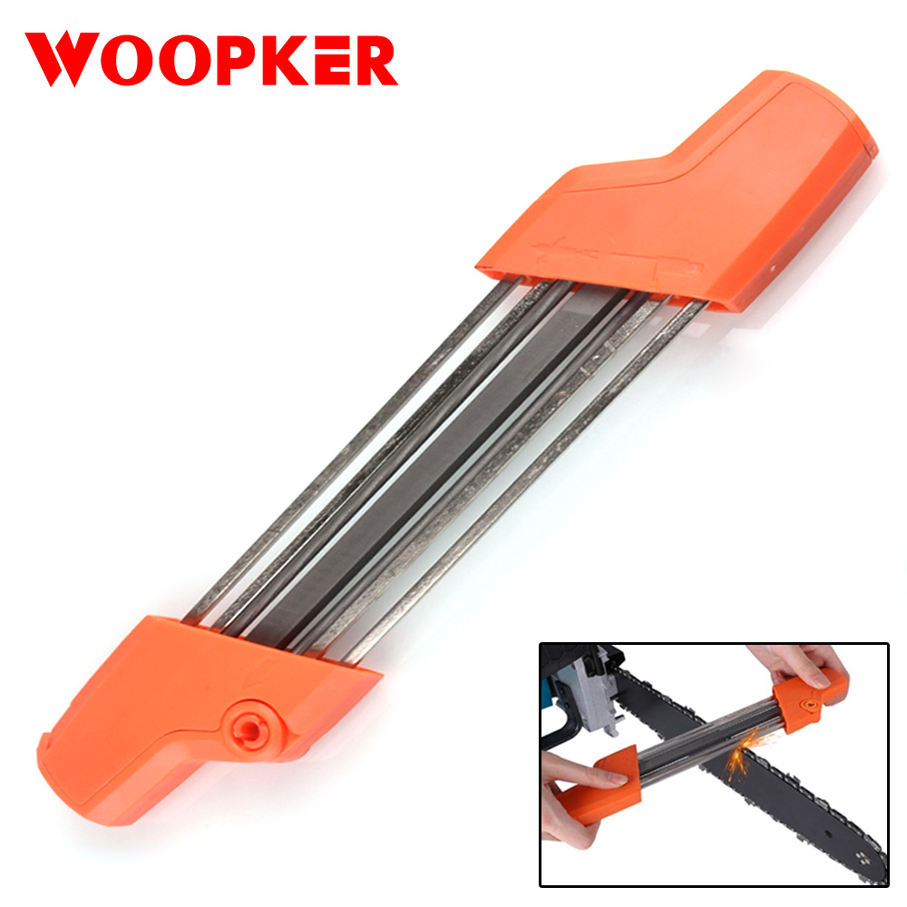 Simple Chainsaw Chain Sharpening Replacement 2 In 1 Grinding Tool 5/32P 4mm For 3/8P Chain Sharpener Whetstone Tools