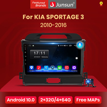 Junsun V1 2G + 32G Android 10 Dsp Auto Radio Multimedia Video Player Navigatie Gps 2 Din Voor kia Sportage 3 2010 2011-2016 Geen Dvd
