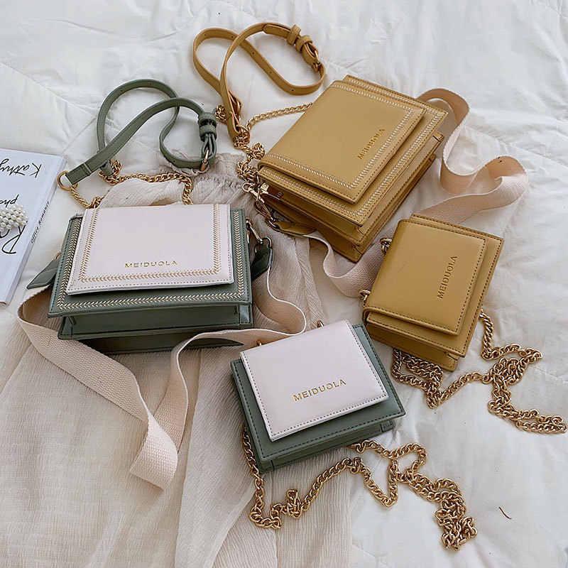 Кожаные сумки через плечо YL для женщин, модный простой дорожный мессенджер контрастных цветов, дамские сумочки на ремне