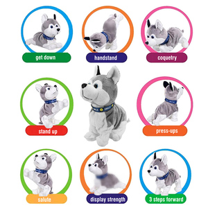 Image 3 - Electronic Pets Sound Control Robot Dogs Bark Stand Walk Cute Interactive Toys Dog Electronic Husky Pekingese Toys For Kids