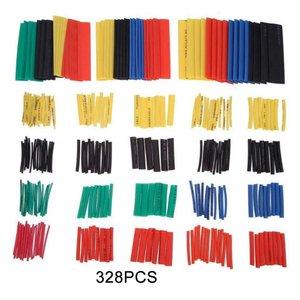 328 sztuk kolor ciepła-termokurczliwa rurka termokurczliwa-rury/izolowane ognioodporne rury tuleja izolacyjna
