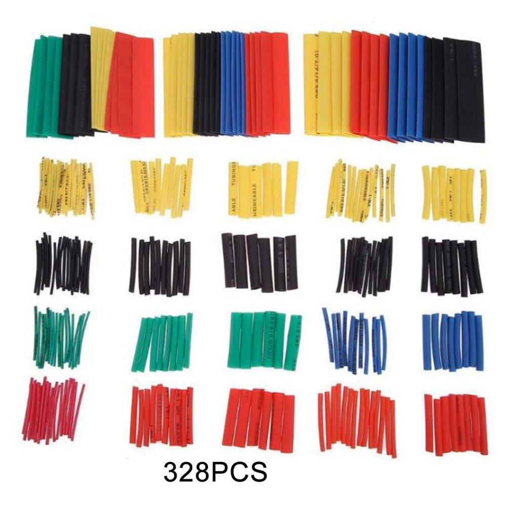 328pcs Color Heat-shrinkable Tube  Heat-shrink-tubing /  Insulated Flame-retardant Tube  Insulating Sleeve