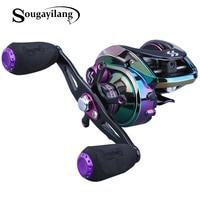 Sougayilang 6.3:1 High Speed Baitcasting Reel 9+1BB 190g Multicolor Casting Fishing Reel Max Drag Power 22LB Carp Fishing Tackle