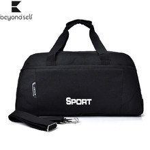 Cross Gym Bags Sports Fitness Yoga Bag Women's Travel Luggage Men One Shoulder Handbag Cylinder Training Exercise Sportsbag 052