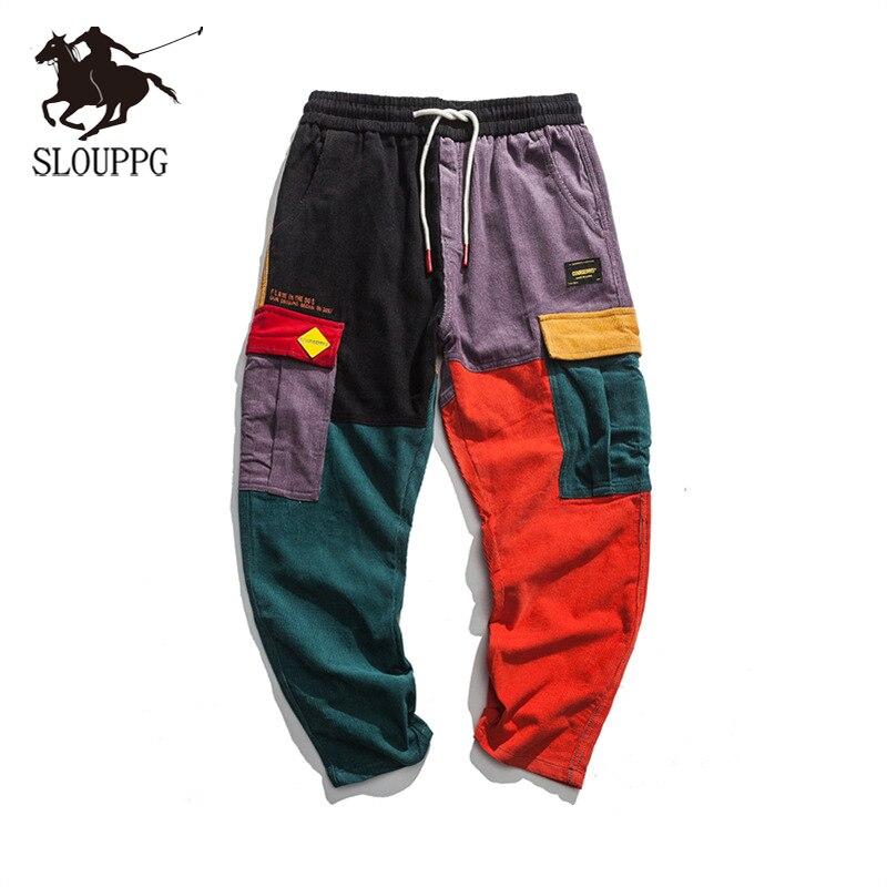 2019 SLPUPPG Fashion New Streetwear Hip Pop Pants Trousers Streetwear Streetwear Harajuku Jogger Sweatpant Joggers Trousers Men