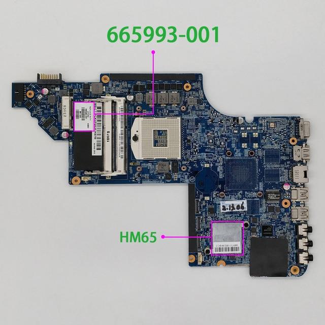 665993 001 hm65 para hp pavilion dv7 DV7 6B DV7 6C séries DV7T 6C00 computador portátil notebook placa mãe testado