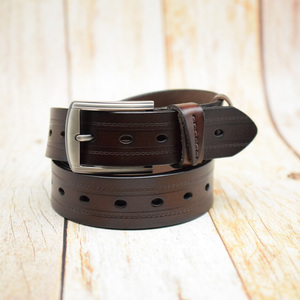 Image 5 - WESTERN AUSPICIOUS Men Belts Leather Designers Cowskin Male Strap With Alloy Buckle Ceinture Homme Green Blue belts cummerbunds