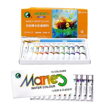 Marie's Watercolor Paint Set 12/18/24/36 Colors 5ML/12ML Tube Water Color Pigment Transparent Fine Water Solubility For Beginner