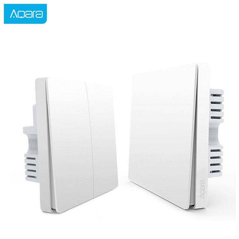 Aqara ZiGBee Wifi Wireless Smart Switch Light Remote Control Key Wall Live Neutral Wire Switch Smart Home Work For Mi Home APP