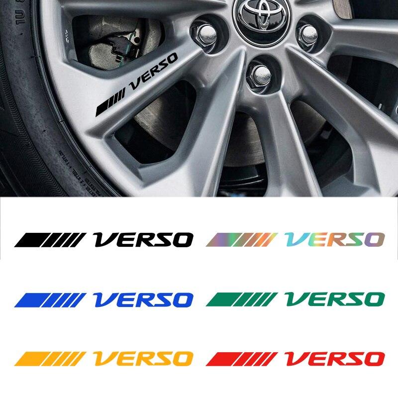 4 Шт Автомобильные обода колеса наклейки ночное видение светоотражающие декоративные наклейки для Toyota verso автомобильные аксессуары|Наклейки на автомобиль|   | АлиЭкспресс