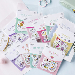 45pcs/pack Lovely Little Fairy Series sticker Mini Cute Stickers Scrapbooking Personality sticker