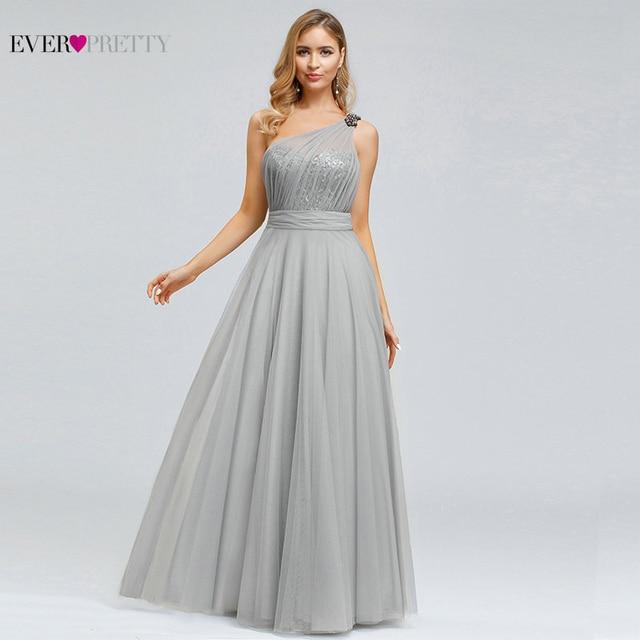 Sexy une ligne robes de soirée pour les femmes jamais assez élégant une épaule sans manches dos nu paillettes longues robes de soirée formelles 2020