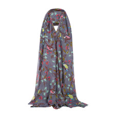 2020 autumn Winter new Winter Women Lady Warm Fashion Birds Trees Pattern Scarf