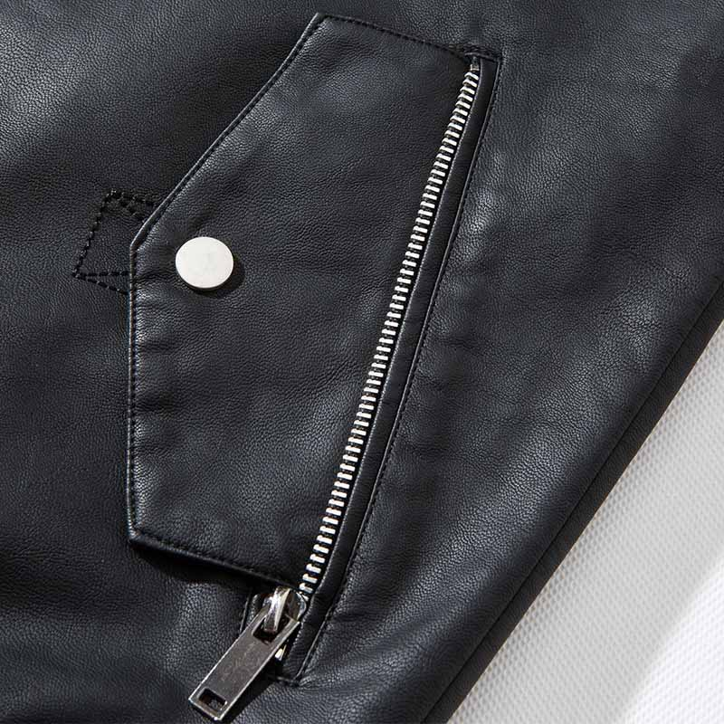 MCIKKNY Fashion Men`s Leather Jackets Outwear With Detachable Hat Pu Leather Jackets Coats For Male Clothing (11)