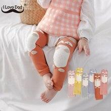 Bonito dos desenhos animados do bebê almofada de joelho infantil crianças longas perna mais quente joelho apoio protetor crianças segurança rastejando cotovelo coxim