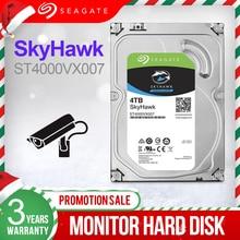 """سيجيت 4 تيرا بايت 3.5 """"المراقبة بالفيديو HDD الداخلية قرص صلب محرك 5900 RPM SATA 6 جيجابايت/ثانية 64MB مخبأ HDD للأمن ST4000VX007"""