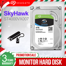 """Seagate 4TB 3.5 """"Video Überwachung HDD Interne Festplatte 5900 RPM SATA 6 Gb/s 64MB Cache HDD Für Sicherheit ST4000VX007"""
