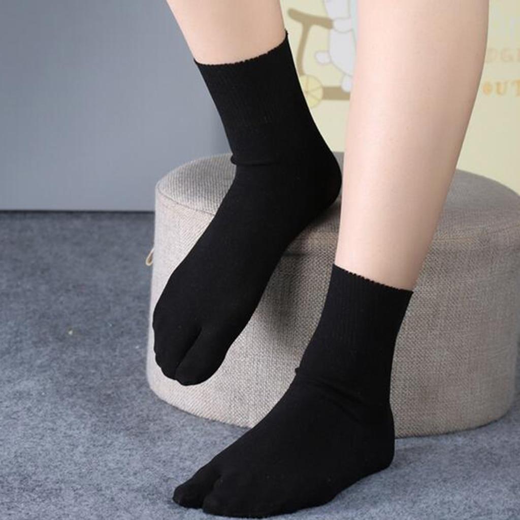 Women Men Split Two Toe Low Socks Flop Tabi Breathable Deodorization