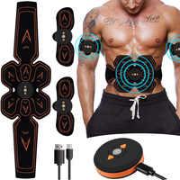 Estimulador muscular Abdominal Musculaire electroestimulación electroestimulador ABS EMS casa gimnasio vientre brazo pierna masaje USB cargado