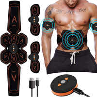 Stimulateur Musculaire électrostimulation Musculaire abdominale électrostimulateur ABS EMS gymnastique à domicile bras du ventre Massage des jambes USB chargé