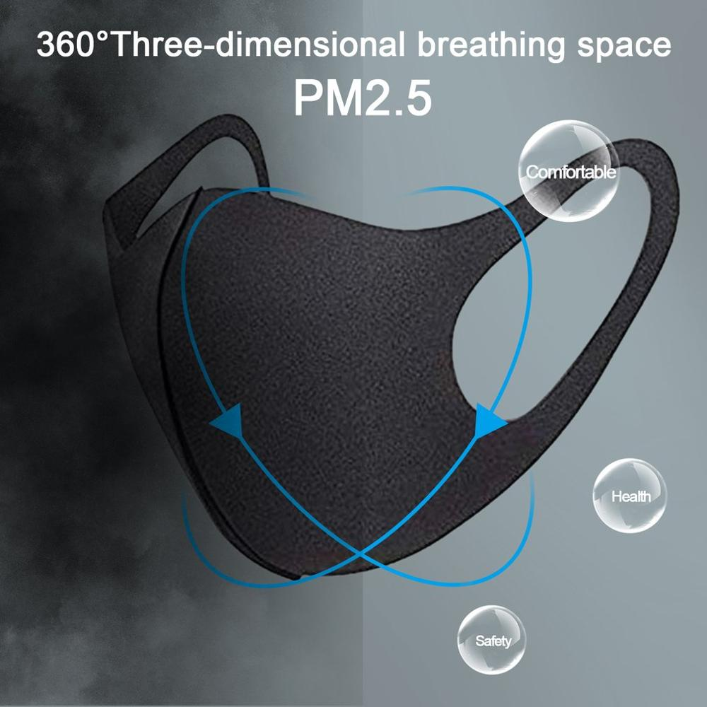 1PCS/20PCS  Winter Sponge Masks Sponge Safe Anti-spit Mask Warm Dust-proof Anti-smoke Breathable And Washable Masks For Men