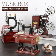 Retro Machine Shaped Music Box with Storage Function Vintage