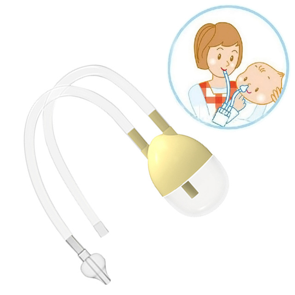 1/2pcs Baby Safe Nose Cleaner Vacuum Suction Nasal Mucus Runny Aspirator Inhale Baby Kids Healthy Care Convenient