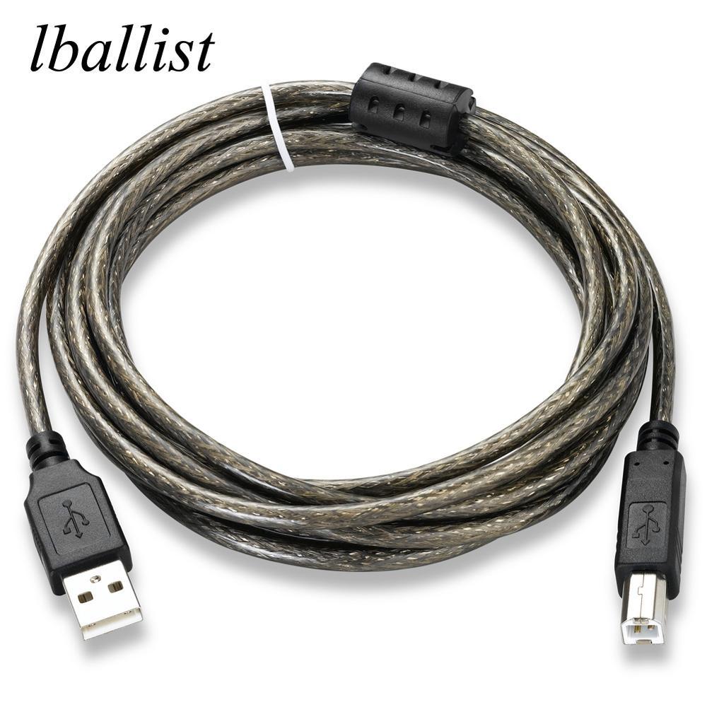 Lballist USB 2,0 Принтер Тип кабеля «папа-папа Type B «Папа Фольга + Плетеный экранированный 1,5 м 3 м 5 м 10 м