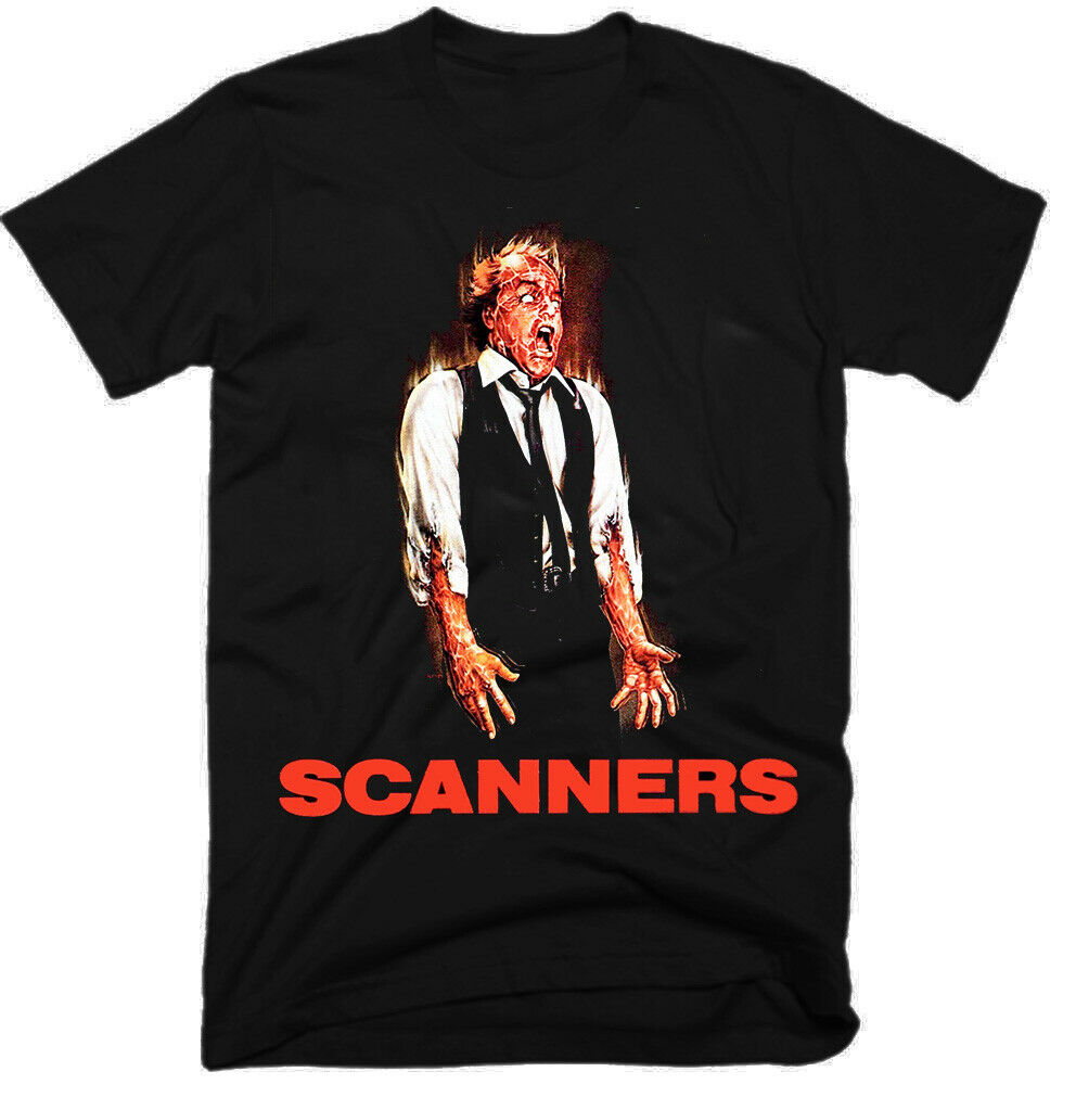 Scanners Mystery Old Movie 1981 100 Cotton Mens T Shirt Size S 5Xl G0232