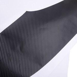 Image 3 - 4 teile/satz Auto Carbon Faser Textur Auto Film Innen Auto Tür Anti Kick Pad Abdeckung Trim Fit für Kia seltos 2020 2021