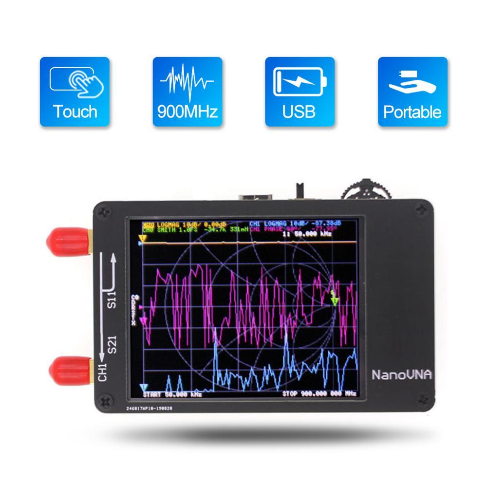 Векторный анализатор сети NanoVNA 50 кГц-900 МГц, цифровой сенсорный экран, анализатор коротких волн HF VHF UHF, стоячая волна