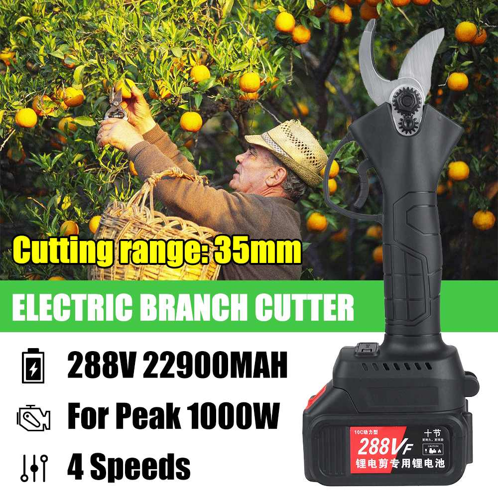 Branches 18V Battery Electric Pruning 4 Gears Garden Tools For Bonsai Pruning 288V Scissors Shear Tree Makita Orchard Cordless