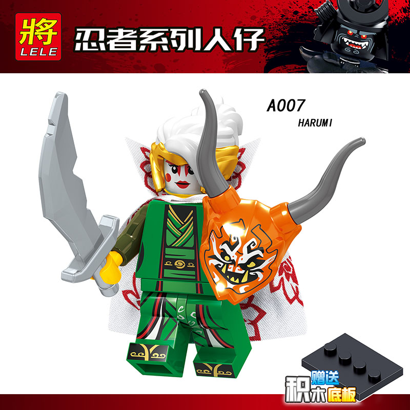 Single Sale Compatible LegoINGlys Ninjagoed NYA KAI COLE HARUMI SAMURAI X Building Bricks Blocks Diy Toy Christmas Gift A001-008