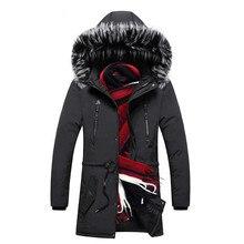 Men Winter Jacket Hooded Parkas New High Quality Fashion Warm Parkas Windbreaker WaterProof Hooded Overcoat Outwear Men Clothing цена