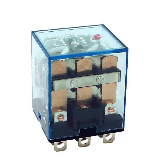 Relais LY3 (5pc) JQX-13F LY3NJ 24 v 12vdc 220vac relais 24 volts 12v 36v ca/cc 10A argent contact dpdt mini rele HH63P