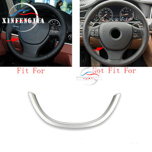 For BMW 5 7 Series F10 F01 F02 Car Chrome Steering Wheel Decorator Cover Trim(China)
