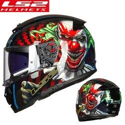 LS2 kask fullface moto rcycle kask casco moto capacetes de moto ciclista podwójny obiektyw capacete FF390 w Kaski od Samochody i motocykle na