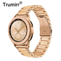 20mm Stainless Steel & Wood Watchband for Samsung Galaxy Watch 42mm/ Active 40mm/ Gear Sport/S2 Classic Quick Release Band Strap