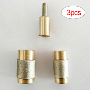 Image 1 - 1/4 3/4 1 Inch Stained Glass Grinder Head High Hardness Metal Stone Polished Tools for Grinding Machine 3pcs Grinding Bits Set