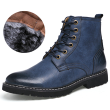 Genuine Leather Winter Shoes Fashion Men Winter Boots Pointed Toe Mid-Calf Boots For Men Male Genuine Leather Boots цена 2017