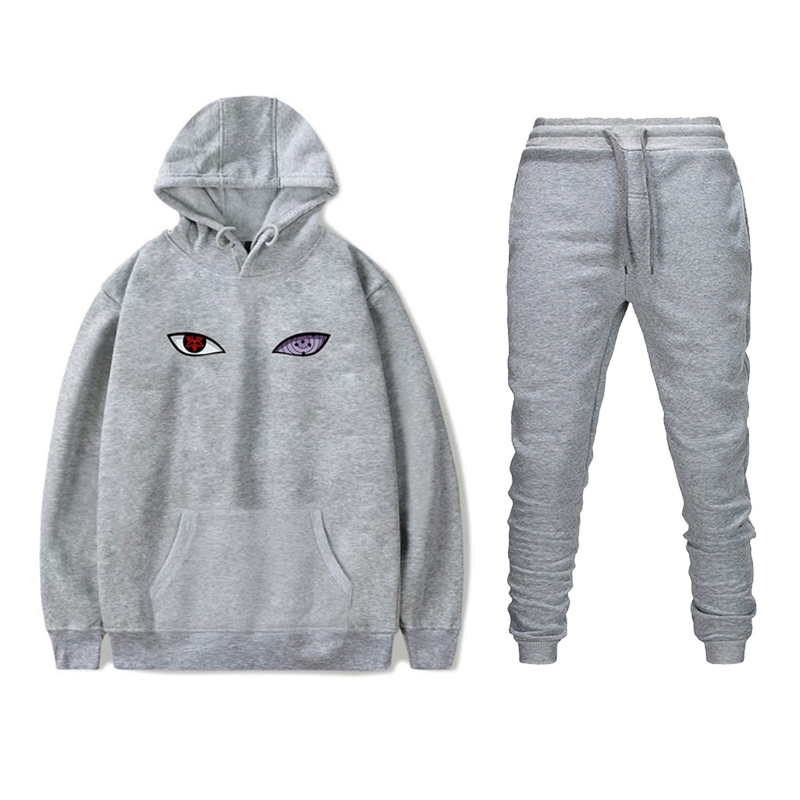 New Two Pieces Set Fashion Hooded Sweatshirts Sportswear Men Tracksuit Hoodie Autumn Winter Hoodies+Pants Sweatsuit Suits